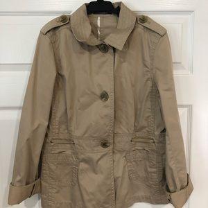 Liz Claiborne Jacket/Coat Military Jacket Trench